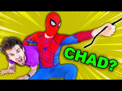 CHAD in DISGUISE as SPIDERMAN (Undercover to Prank Comic Book Hacker to Learn about GKC School)
