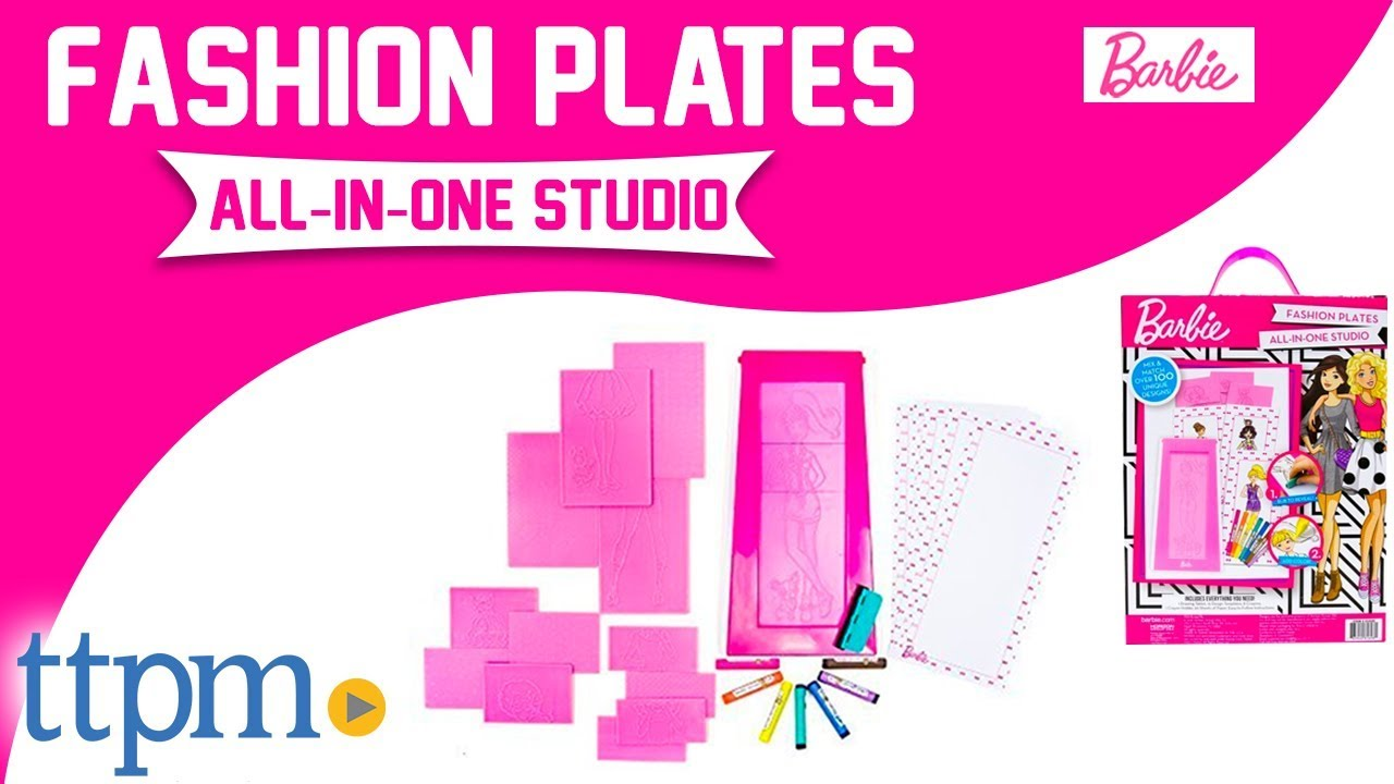 Barbie Fashion Plates All In One Studio Activity Kit Review Horizon Group Usa Toys Youtube