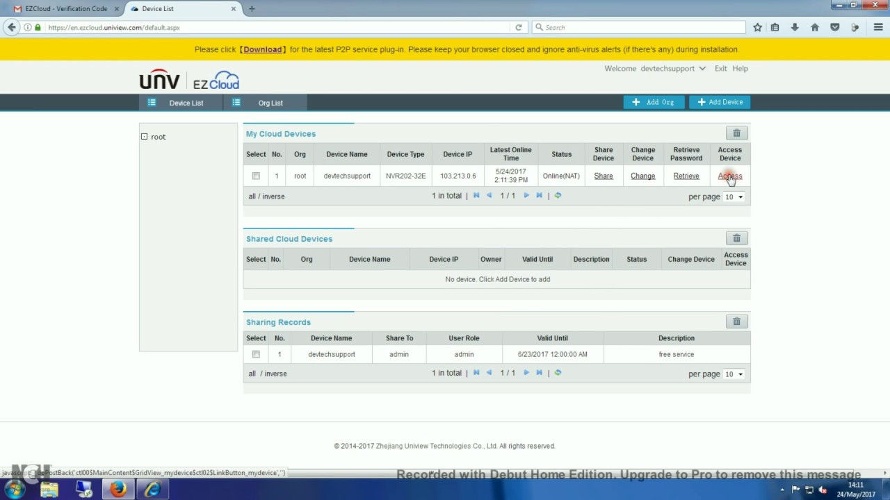 Ezcloud Account Setup for Uniview NVR For Mobile And PC (Tutorial)