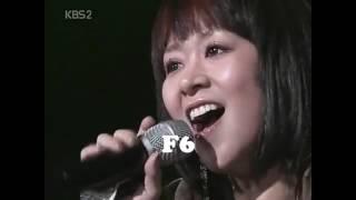 조유진 (체리필터) 라이브 휘슬 레지스터 음역대 / Live Whistle Register Vocal Range (Bb5 - Bb6)