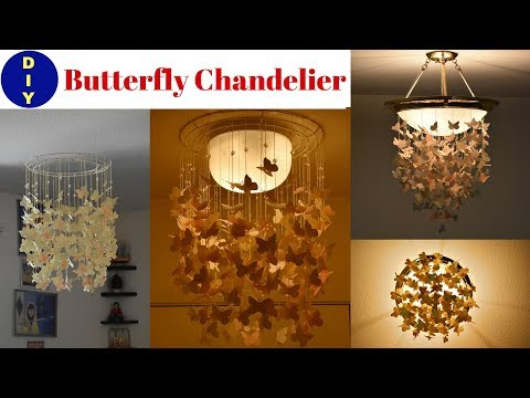 DIY Butterfly Chandelier | Wall Hanging | Home Decor