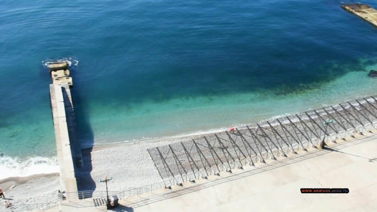 Гаспра пляж санатория Днепр, Родина Марат, пляж отеля Сосновая роща. 20-е Февраля. Курорт Михор.