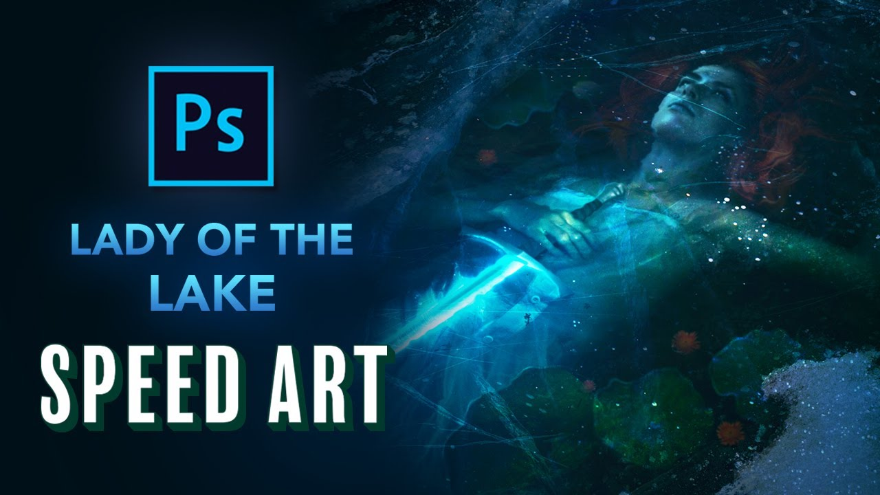 Creating EXCALIBUR! in Photoshop - Fantasy Speed Art