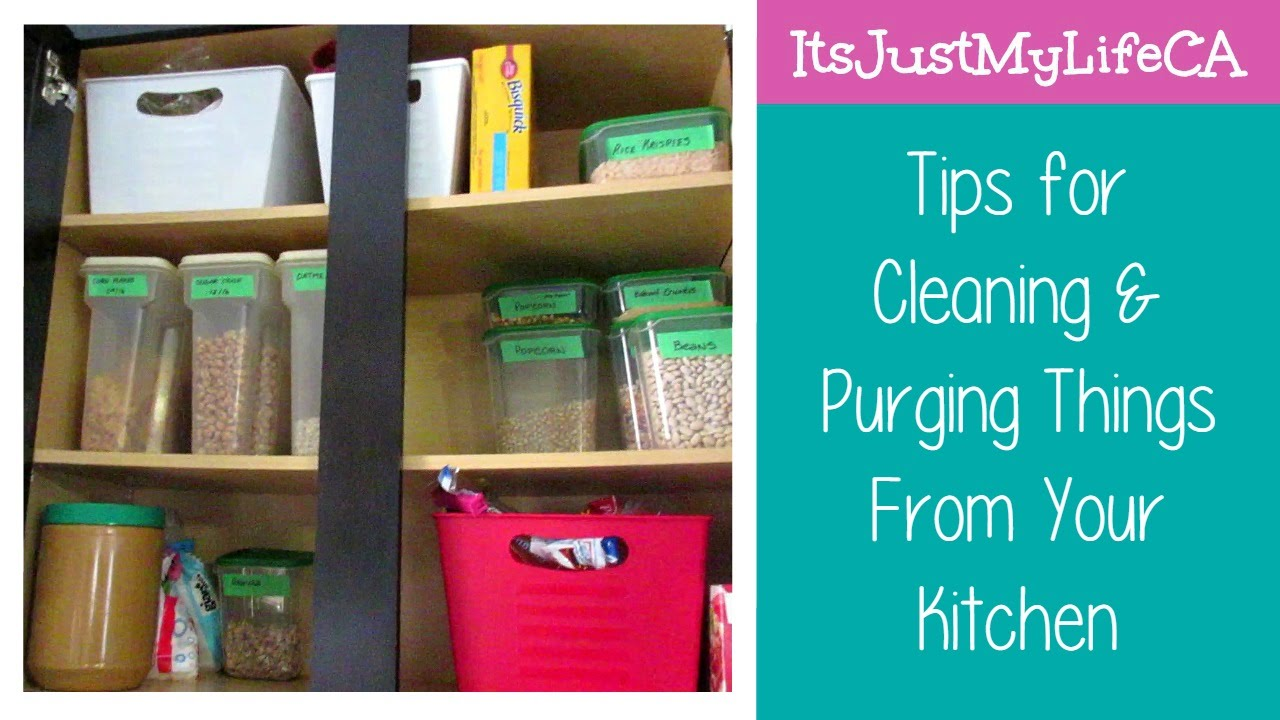 Tips for Cleaning & Purging Things From Your Kitchen ...