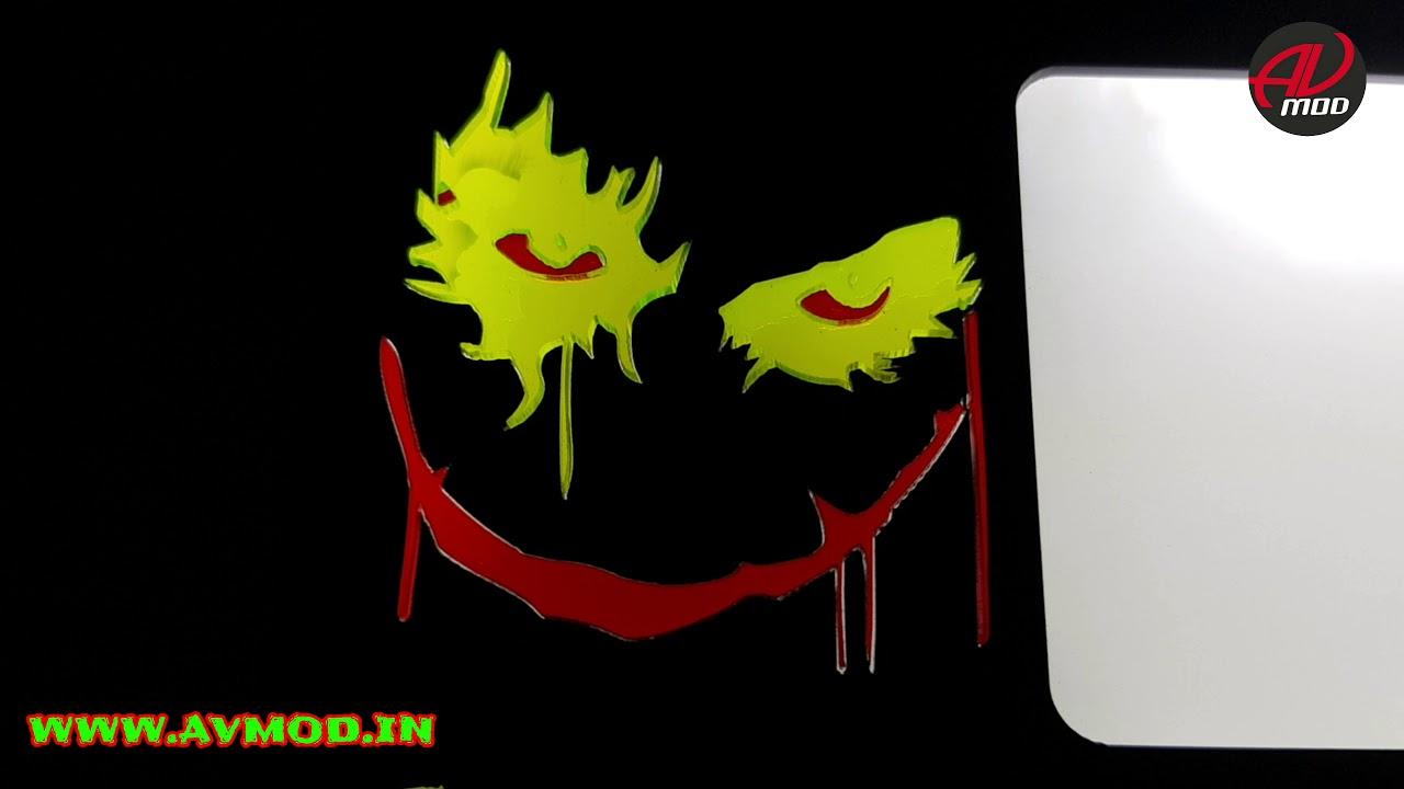 Joker 3d light number plate by avmod 4k