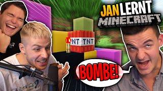 GEWITTER IM KOPF MINECRAFT beibringen! Jan wird zum Minecraft Pro!