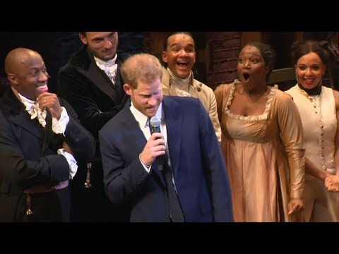 Prince Harry sings a note of Hamilton song at charity performance