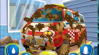 Мультик игра Автомойка: Мыть скорую помощь (Ambulance Car Wash)