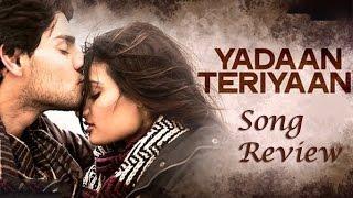 Yadaan Teriyaan | Hero Movie New Song Review | Sooraj Pancholi, Athiya Shetty | New Hindi Songs 2015