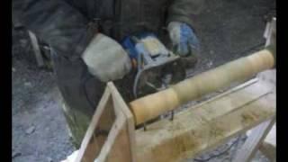 Cамодельный токарный станок по дереву(Представляю Вашему вниманию первый самодельный токарный станок по дереву, который вместо резца использует..., 2010-02-26T22:08:46.000Z)