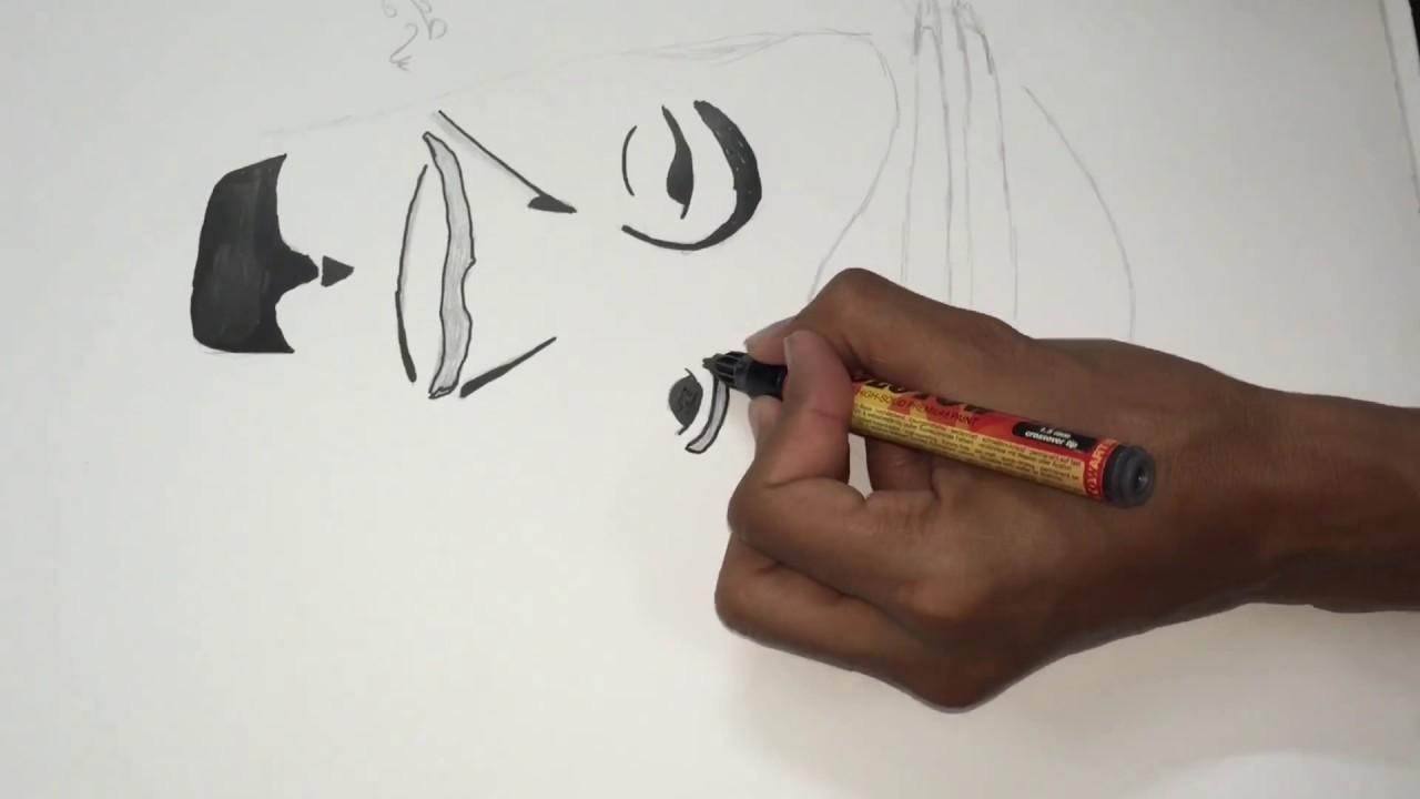 رسم بسيط الملك سلمان Youtube