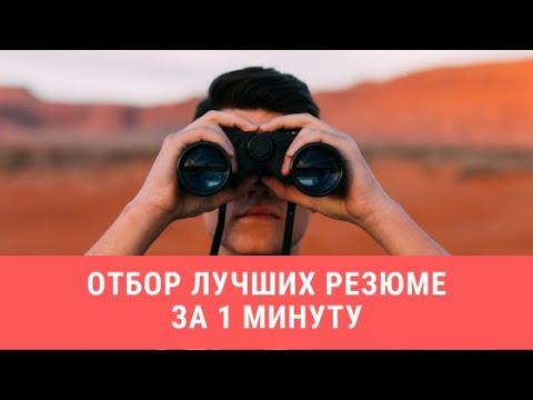 Отбор лучших резюме на Hh.ru за 1 минуту