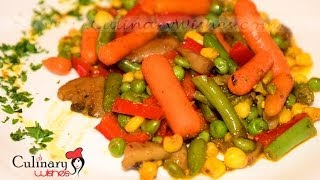How To Cook Sauteed Vegetables With Butter And Curry