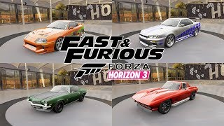 FAST AND FURIOUS 1-8 ALL CARS [FORZA HORIZON 3]