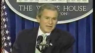 Bush: Truly not concerned about bin Laden (short version) thumbnail