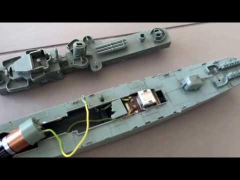 Vintage Model Toy Boat w/ KMK Japan Motor Ship Rare Antique Old Battery Working