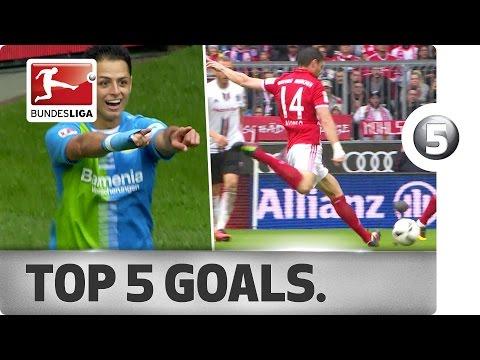 Top 5 Goals - Chicharito, Lewandowski and More with Incredible Strikes