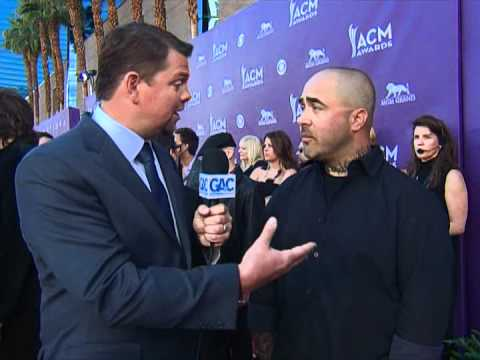 Aaron Lewis Red Carpet Interview ACM Awards 2012