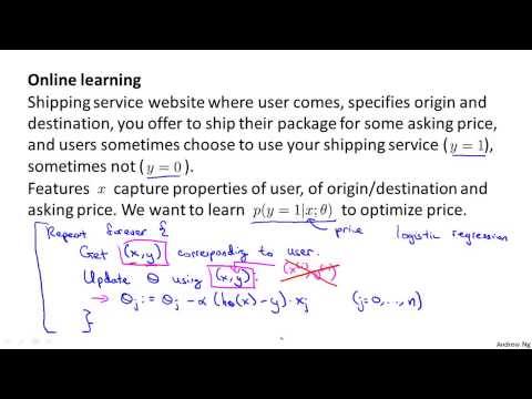 Machine learning W10  5   Online Learning