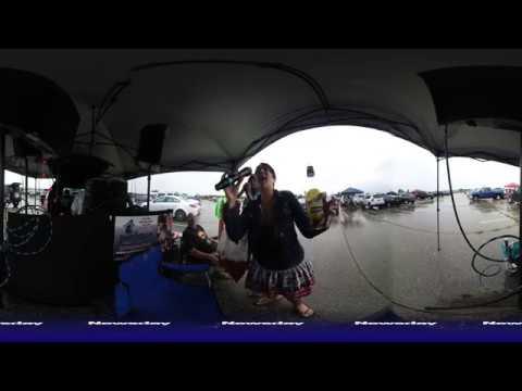 Karaoke tailgating at the Jimmy Buffet concert at Jones Beach