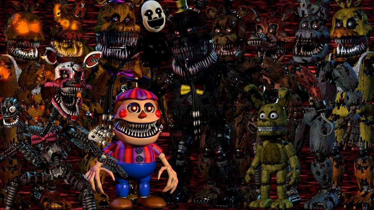 All FNAF 4 Characters Sing The Song
