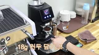 에스프레소 커피머신 추출 세팅 영상입니다.  l 씨메 …