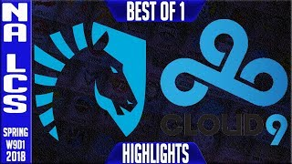 Video TL vs C9 Highlights | NA LCS Week 9 Spring 2018 W9D1 | Team Liquid vs Cloud 9 Highlights download MP3, 3GP, MP4, WEBM, AVI, FLV Juni 2018