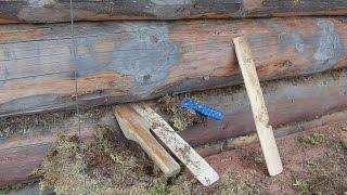 Стройка теплый дом из бревна.Лесной мох . .Своими руками(Конопатил сруб дома .Решил с вами поделиться. Как и чем конопатить.И какие нужно сделать конопатки колотушк..., 2015-10-29T18:51:59.000Z)