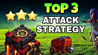 TOP 3 TOWN HALL 10 WAR ATTACK STRATEGY | TH10 BEST ATTACK STRATEGY | CLASH OF CLANS