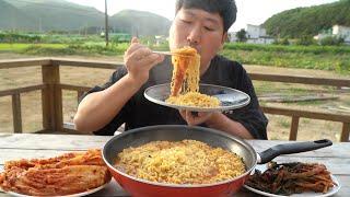 당장 라면 끓이러 가게 만드는 [[신라면 5봉(Shin ramyun, Hot instant noodles)]] 요리&먹방!! - Mukbang eating show