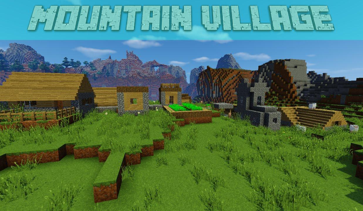 Cool Mountain Village Minecraft Seed 1 9, 1 8, 1 8 9 Good