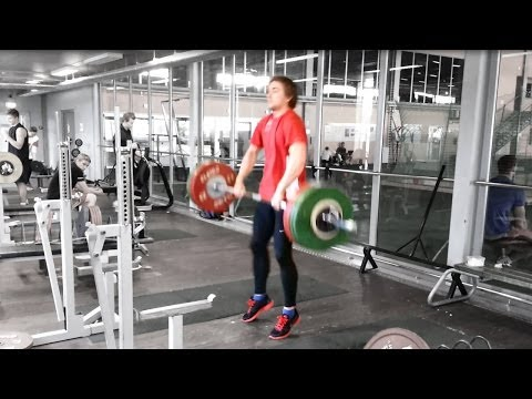 Testing strength - Power Clean 276 lbs/125...