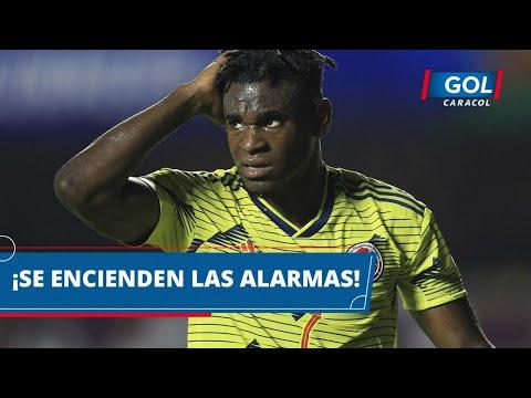 Preocupación en la Selección Colombia: Duván Zapata se retiró lesionado en el partido contra Chile