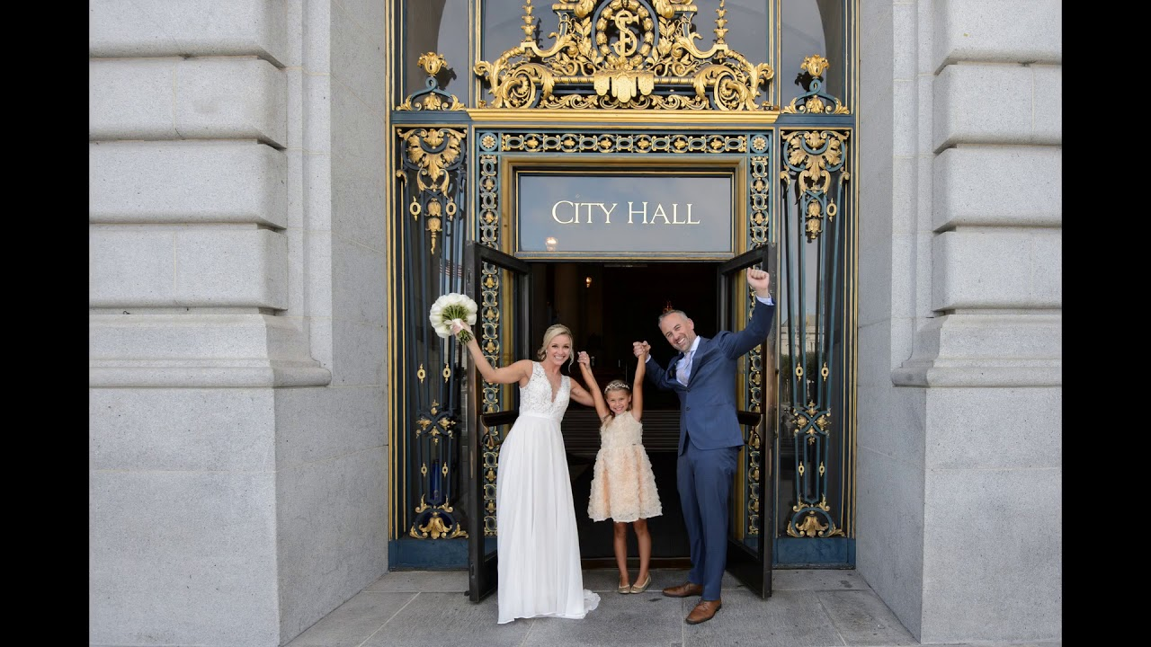 San Francisco City Hall Wedding With Reception In North Beach Youtube