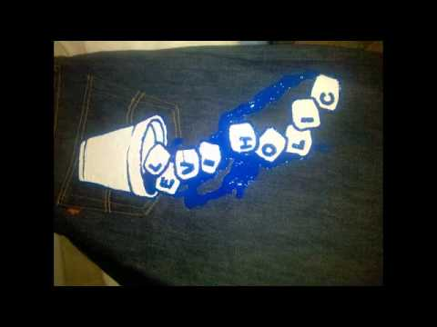 Lil Artroom Designs_Hand Painted Jeans.flv
