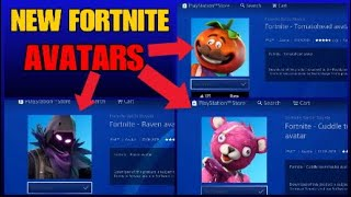 *NEW* FORTNITE AVATARS!! HOW TO GET FORTNITE AVATARS IN THE PS STORE! (Tutorial)