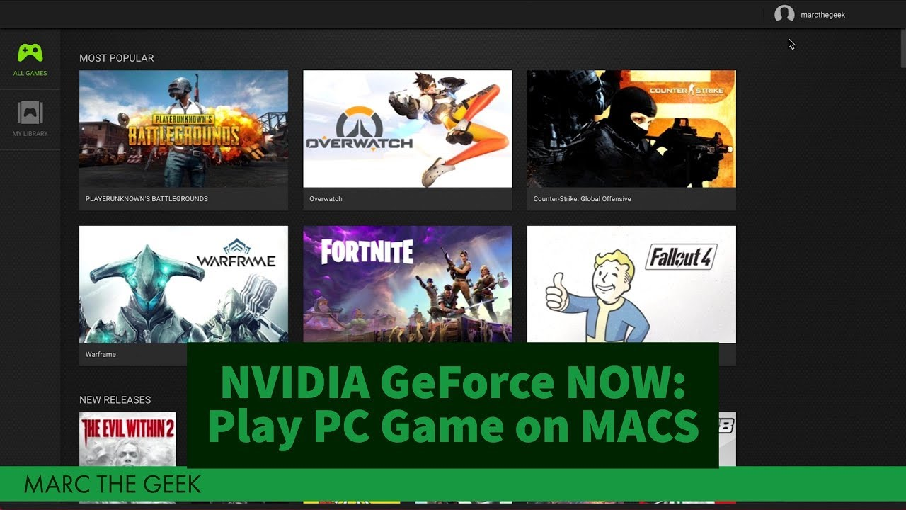 Nvidia Geforce Now Play Pc Games On Any Mac Youtube