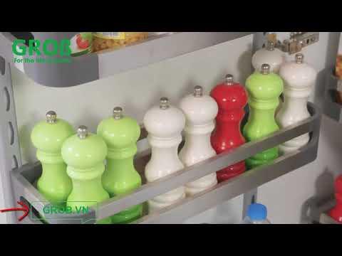 (Grob.vn) Tủ đồ khô Grob Inox hộp cao cấp