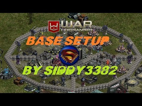 WAR COMMANDER - BASE SETUP. MY FIRST VIDEO OF THIS KIND GUYS.