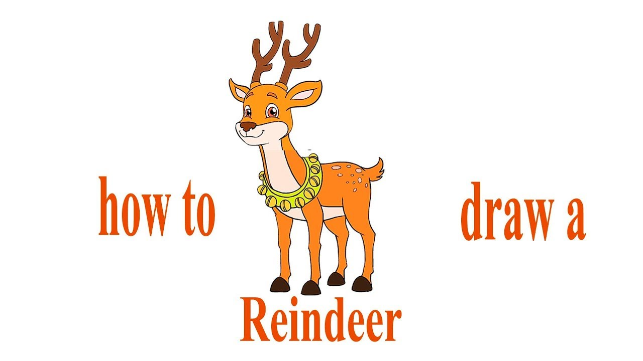 How to draw a Reindeer, deer Santa Claus, #Howtodraw, # ...