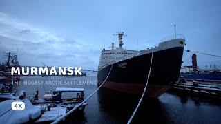 Murmansk 2021 - 4K Walking City Tour in The Biggest Arctic Settlement