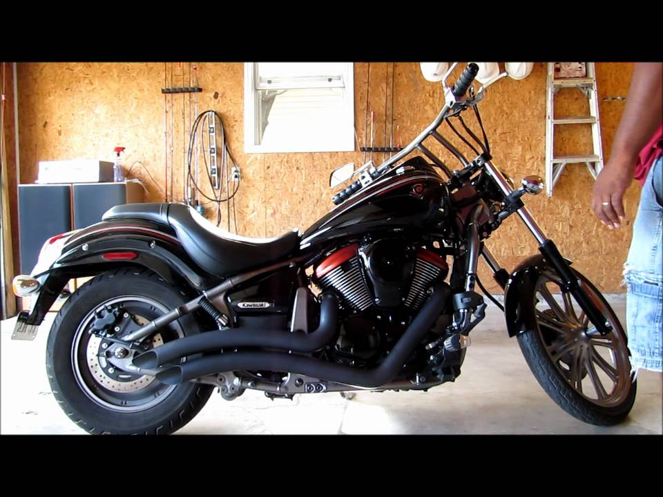 vulcan custom 900 before and after new exhaust funnycat tv. Black Bedroom Furniture Sets. Home Design Ideas