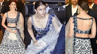 Alia Bhatt Looks Stunning In Lehenga At Isha Ambani Wedding