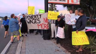 Community activists and striking Dunkin Donuts workers demand higher wages: WMNF News