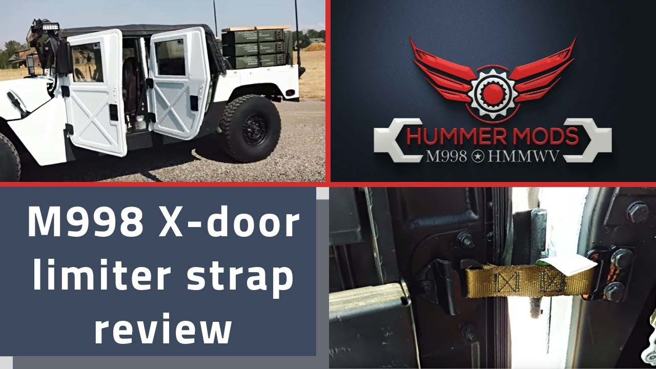 HMMWV M998 X Door Limiter Strap Review Military vs Consumer 5340-01-254-7189 & HMMWV M998 X Door Limiter Strap Review Military vs Consumer 5340-01 ...
