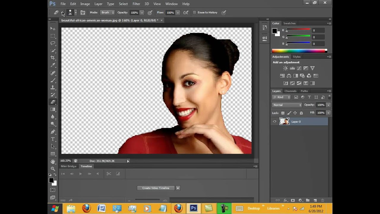 Removing Background in Photoshop CS6. - YouTube