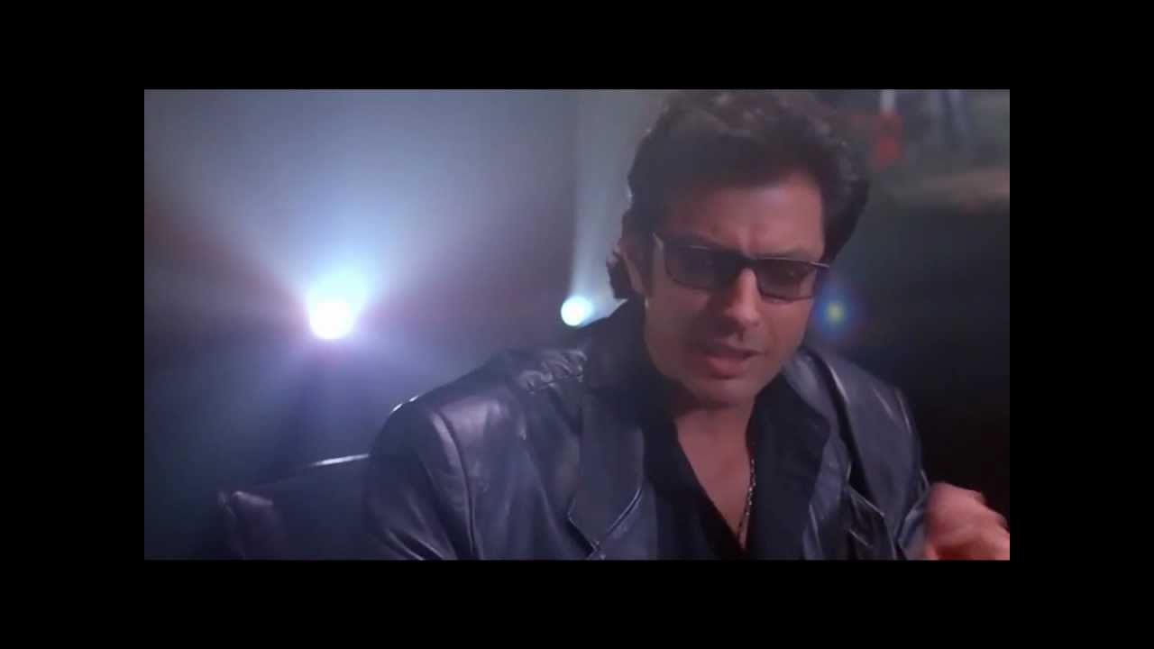 Ian Malcolm gives Hammond an ethics lecture - YouTube