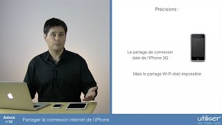 Partager la connexion internet de l'iPhone. Lorsque vous êtes en dé...