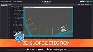 [DEMO] How to detect slopes in a platform game using the Dot Product: Godot tutorial