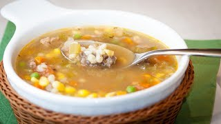 How To Make A Beef Barley Soup